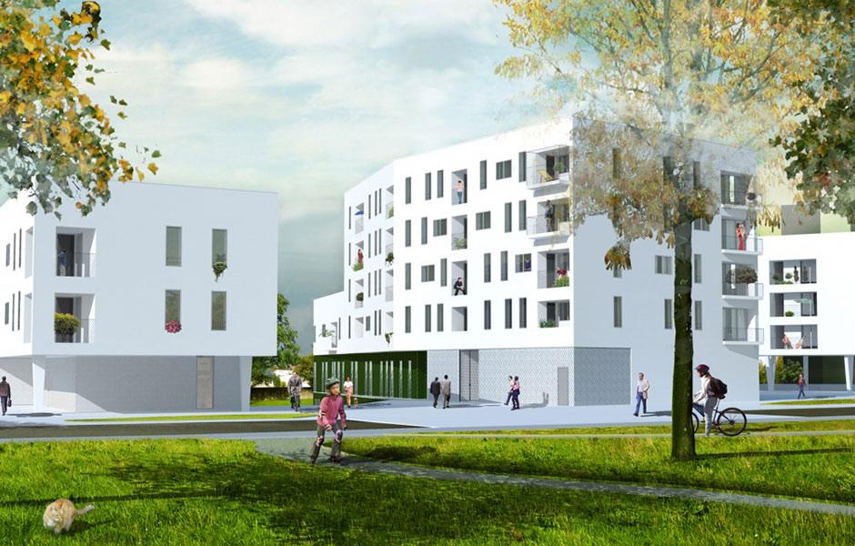 55 logements et centre médico-social à La Roche Sur Yon