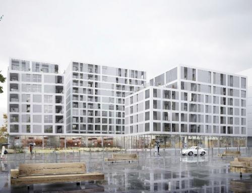 Immeuble de logements et locaux commerciaux ZAC Courrouze à Rennes (35)